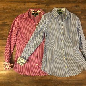 C. Wonder set of 2 button-down shirts size xs